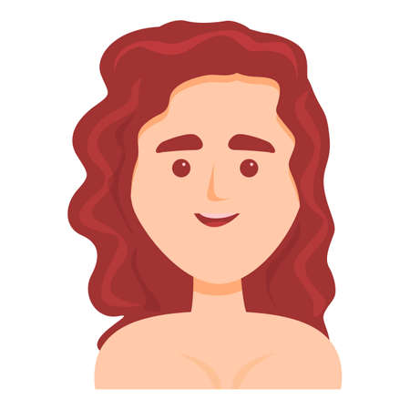 Brown haired woman icon. Cartoon of Brown haired woman vector icon for web design isolated on white background