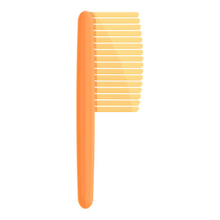 Hair comb icon. Cartoon of Hair comb vector icon for web design isolated on white background