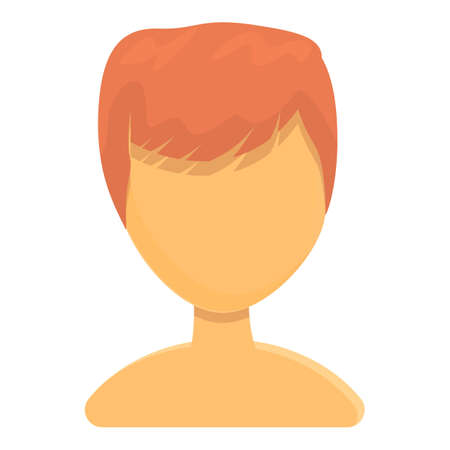 Red male hair icon. Cartoon of Red male hair vector icon for web design isolated on white background Vettoriali