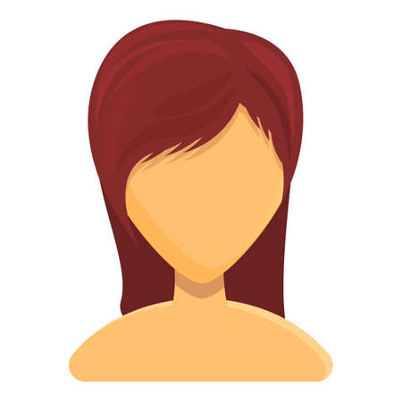 Modest women hairstyle icon. Cartoon of Modest women hairstyle vector icon for web design isolated on white background Vettoriali