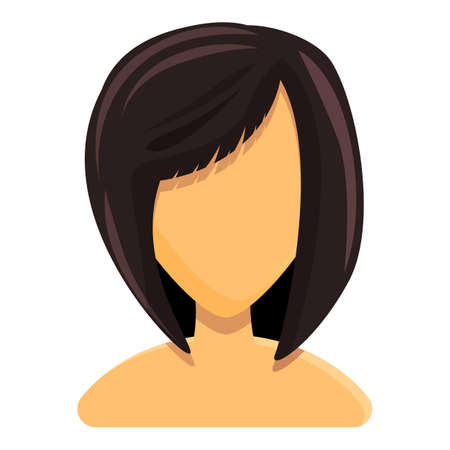Bob hairstyle icon. Cartoon of Bob hairstyle vector icon for web design isolated on white background