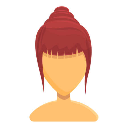 Asian hairstyle icon. Cartoon of Asian hairstyle vector icon for web design isolated on white background