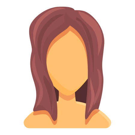 Chic women hairstyle icon. Cartoon of Chic women hairstyle vector icon for web design isolated on white background
