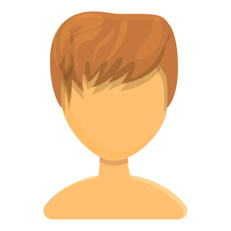 Creative haircut icon. Cartoon of Creative haircut vector icon for web design isolated on white background Vettoriali