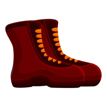 Trekking boots icon. Cartoon of Trekking boots vector icon for web design isolated on white background