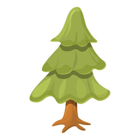 Christmas tree icon. Cartoon of Christmas tree vector icon for web design isolated on white background