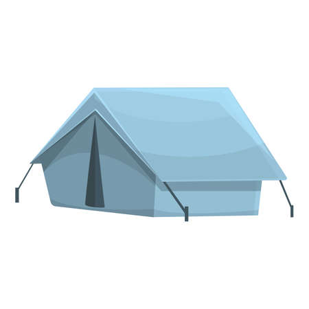Camping tent icon. Cartoon of Camping tent vector icon for web design isolated on white background Vettoriali