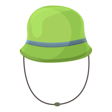 Camping panama hat icon. Cartoon of Camping panama hat vector icon for web design isolated on white background Vettoriali