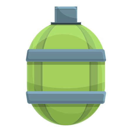 Green flask icon. Cartoon of Green flask vector icon for web design isolated on white background Vettoriali