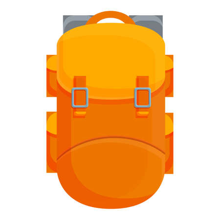 Camping large backpack icon. Cartoon of Camping large backpack vector icon for web design isolated on white background Vettoriali