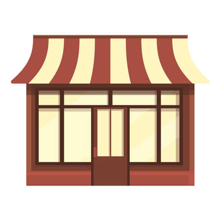 Work street cafe icon cartoon vector. Coffee shop. Cafeteria place