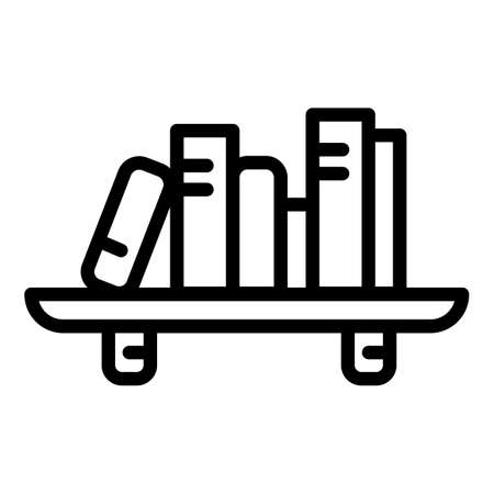 Room book shelf icon. Outline room book shelf vector icon for web design isolated on white background