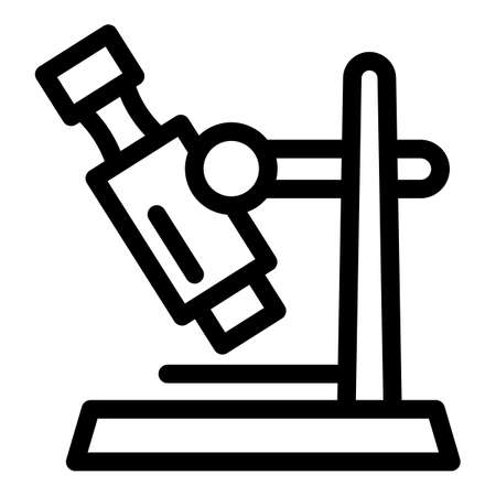 Glass microscope icon. Outline glass microscope vector icon for web design isolated on white background 向量圖像