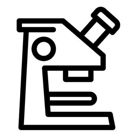 Laboratory microscope icon. Outline laboratory microscope vector icon for web design isolated on white background