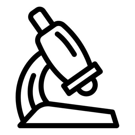 Science microscope icon. Outline science microscope vector icon for web design isolated on white background