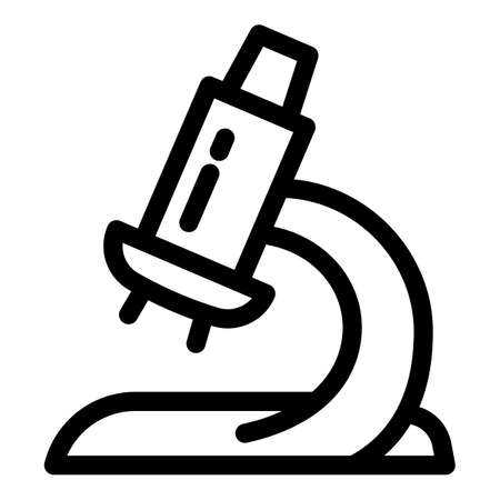 Lab microscope icon. Outline lab microscope vector icon for web design isolated on white background