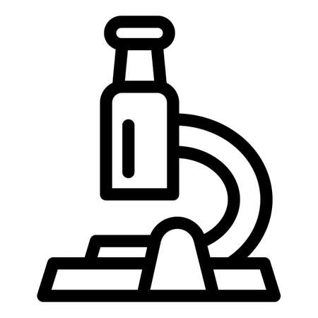 Cell microscope icon. Outline cell microscope vector icon for web design isolated on white background 向量圖像