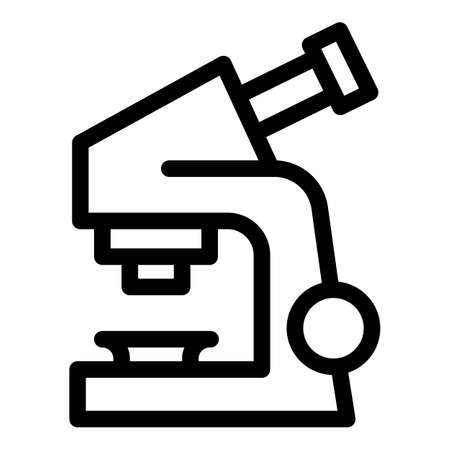 Research microscope icon. Outline research microscope vector icon for web design isolated on white background