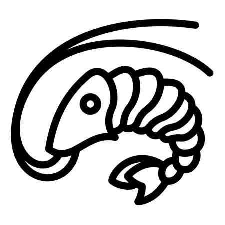 Sushi shrimp icon. Outline sushi shrimp vector icon for web design isolated on white background
