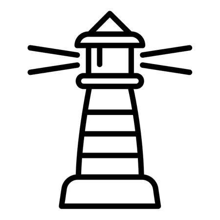 Beacon lighthouse icon. Outline beacon lighthouse vector icon for web design isolated on white background