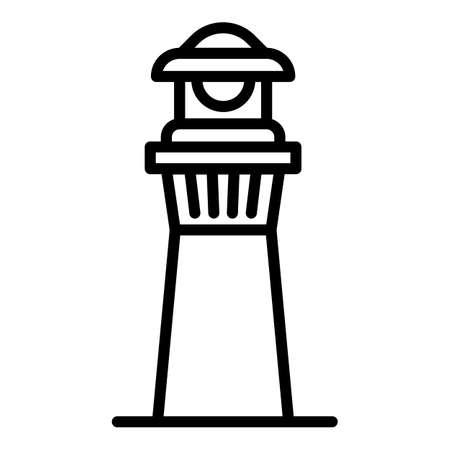 Harbor lighthouse icon. Outline harbor lighthouse vector icon for web design isolated on white background Illusztráció