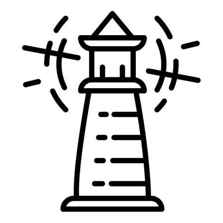 Radar lighthouse icon. Outline radar lighthouse vector icon for web design isolated on white background Illusztráció