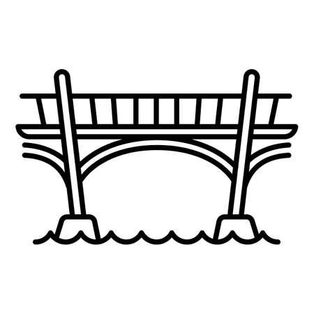 Bridge icon. Outline bridge vector icon for web design isolated on white background