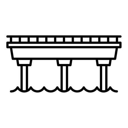 Simple bridge icon. Outline simple bridge vector icon for web design isolated on white background