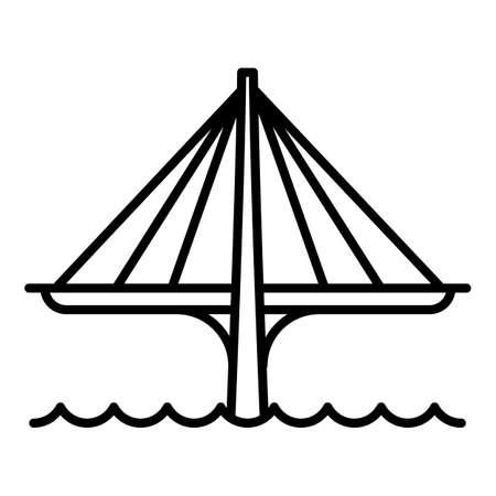 Futuristic bridge icon. Outline futuristic bridge vector icon for web design isolated on white background Illusztráció