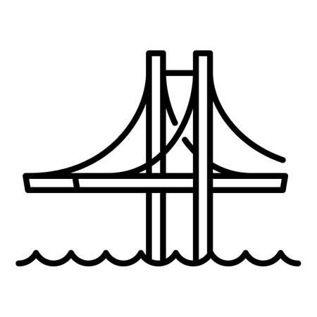 Architecture bridge icon. Outline architecture bridge vector icon for web design isolated on white background