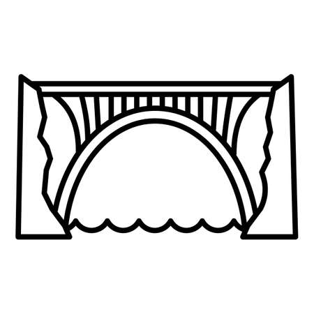 Skyline bridge icon. Outline skyline bridge vector icon for web design isolated on white background