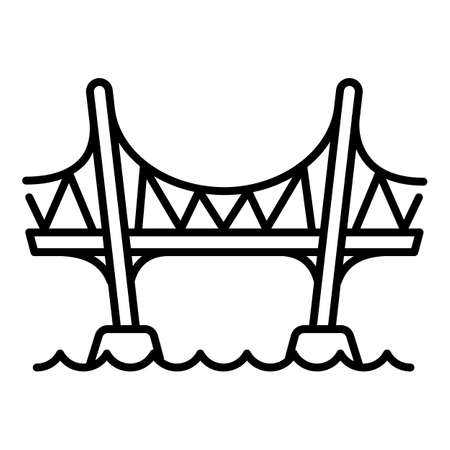 Aqueduct bridge icon. Outline aqueduct bridge vector icon for web design isolated on white background
