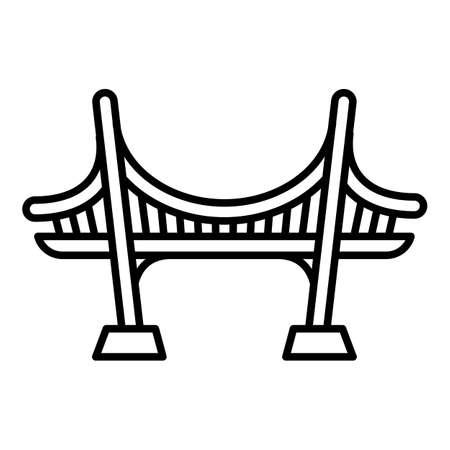 Sea bridge icon. Outline sea bridge vector icon for web design isolated on white background Illusztráció