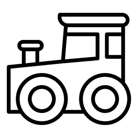 Baby train toy icon. Outline baby train toy vector icon for web design isolated on white background