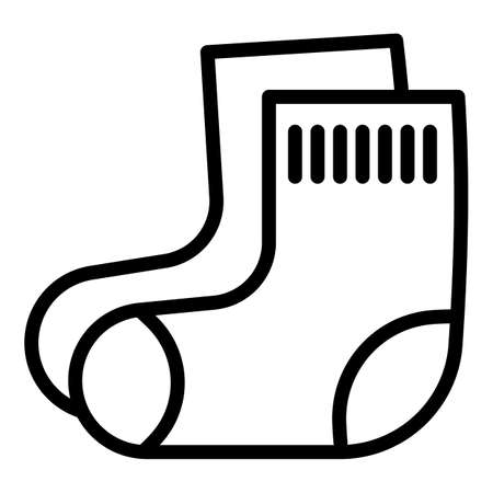 Baby cotton socks icon. Outline baby cotton socks vector icon for web design isolated on white background