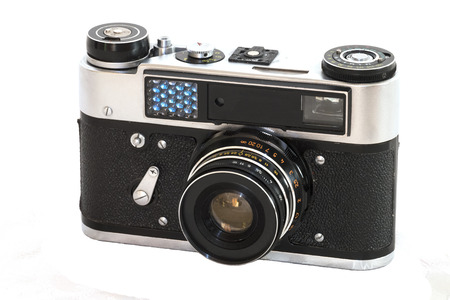 rangefinder: Old rangefinder film camera
