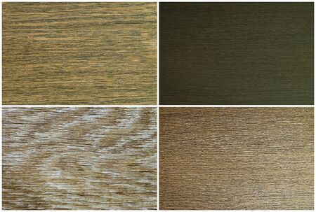treated board: Textures veneer surface finishing materials of different shades of color of wenge, laminate floor of authentic - light oak, dark wenge veneer surface.