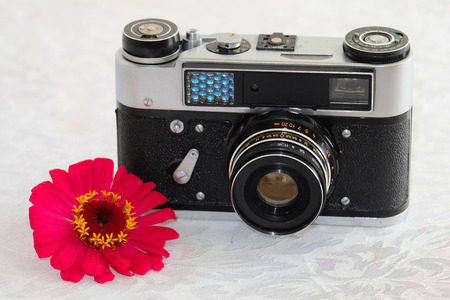 rangefinder: Old rangefinder film camera are available with 1977 year.