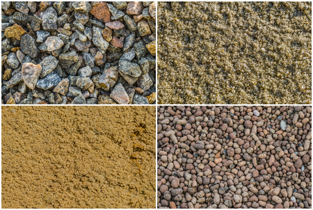 sand quarry: Texture loose materials: crushed stone granite gravel, river sand, quarry sand ravine sand, expanded clay aggregate expanded clay gravel.