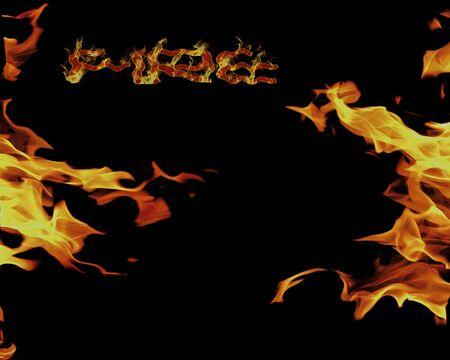 enveloped: Darkness enveloped in flames. Fire.