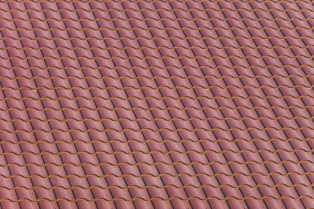 sheeting: Red roofing from stainless metal plate.