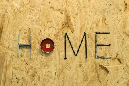 osb: The word home of the fastening materials and tools on the OSB sheet
