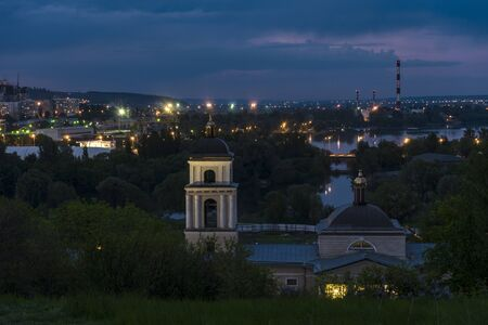relievo: Belgorod city. Russia. Twilight view of the Church of St. Michael (1844 year of construction).