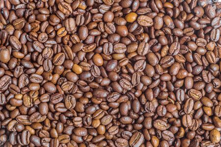 agrarian: Texture of fried arabica coffee beans