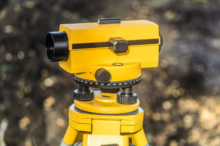 Geodetic optical level. Construction engineering tool.