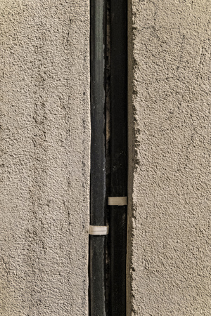 Technological groove in wall for laying electrical wires