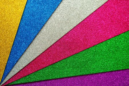Set of multicolored foamiran sheets with sparkles