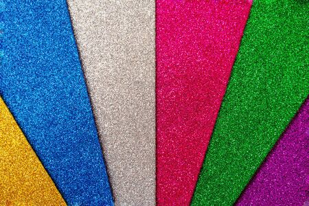 Set of colored foamiran sheets with sparkles