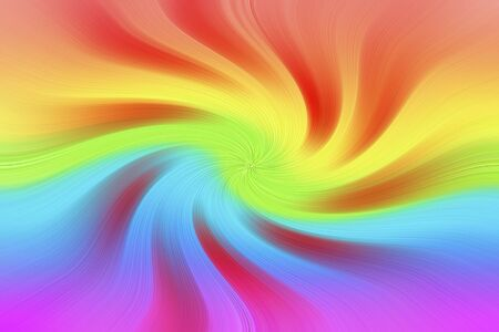 Twisting of rainbow colors with red windmill rays. Graphic image of a windmill toy. Vivid colored swirl twisting towards center. Colorful abstract texture. Kho ảnh