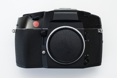 Professional 35mm film SLR made in Germany Stock Photo